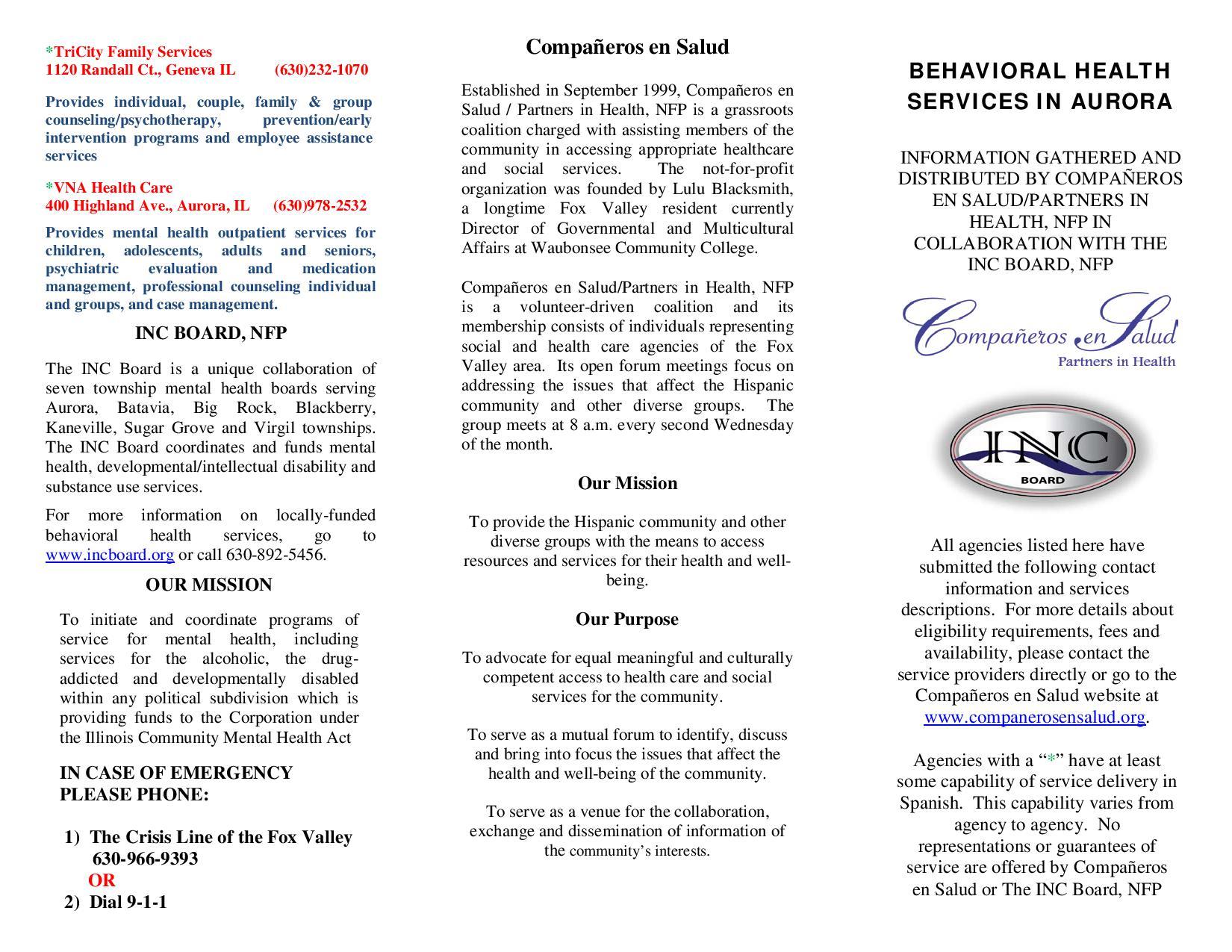 Mental Health Brochure
